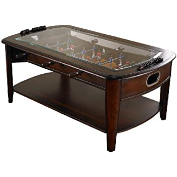 Amazoncom Chicago Gaming Signature Foosball Coffee Table Sports - Foosball coffee table with stools
