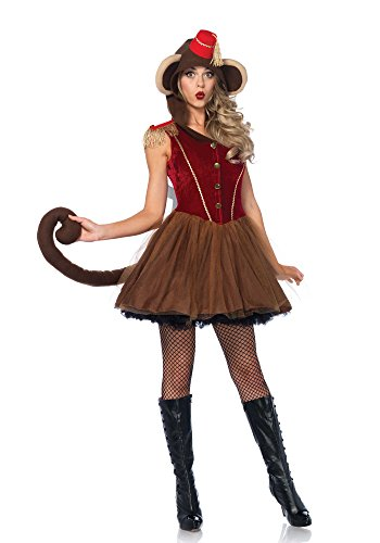 Leg Avenue Women's Wind Up Monkey Circus Costume, Brown, Small