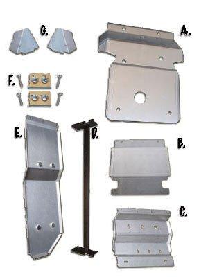 9-Piece Complete Aluminum Armor Kit, Toyota FJ - Plates Toyota Skid Cruiser Fj