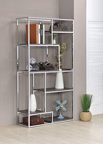 Furniture of america corley contemporary 6 shelf bookcase for Furniture of america nara contemporary 6 shelf tiered open bookcase