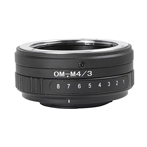 MENGS OM-M4/3 Tilt Lens Mount Adapter with 360° rotation Aluminum Alloy+Stainless Steel Olympus OM Mount Lens to Micro 4/3 Mount Panasonic G/GF Series and Olympus EP Series Camera