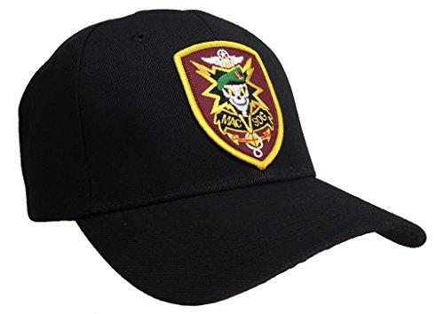 MACV SOG Hat Black Ball Cap (Mac Adjustable Hat)