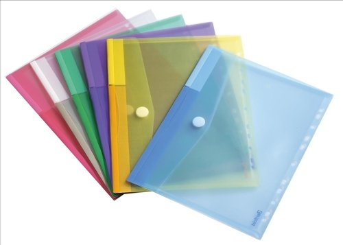 Tarifold - Fundas tipo sobre (12 unidades, tamaño A4, colores variados) product