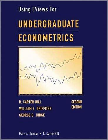 Undergraduate Econometrics, Using EViews For: 9780471412397