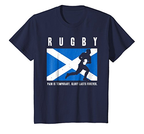 Kids Rugby Scotland - Scottish Rugby Tshirt GLORY LASTS FOREVER 6 Navy