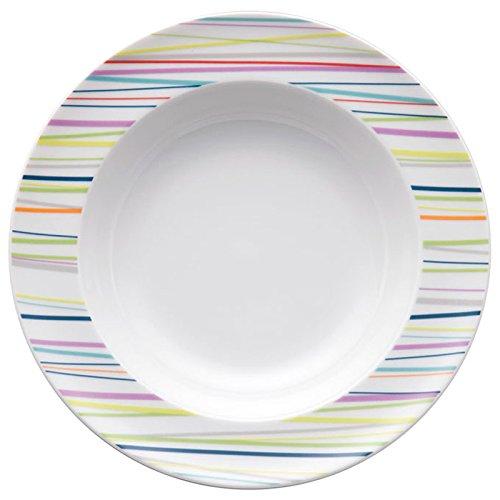 Thomas Sunny Day Soup and Pasta Plate, Porcelain, Sunny Stripes, Dishwasher Safe, (Rosenthal Sunny Day)