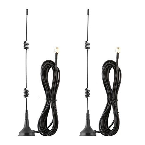 Tonton 2 Pack 10ft 7dBi WiFi Antenna Extension Cable with Magnetic Base for IP Wireless Security Camera and CCTV Wireless Camera System