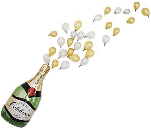 Pop The Bubbly! Balloon Pack Giant Champagne Balloon Kit, 40