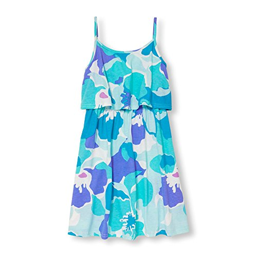 The Children's Place Big Girls' Shoulder Casual Dresses, Neon Punch 81303, XL -