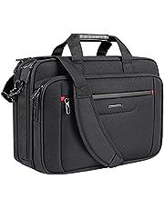 VANKEAN Laptop Bag Premium Laptop Case Business Briefcase Fits Up to 17.3 Inch Laptop Expandable Water-Repellent Shoulder Messenger Bag for Men/ Women Computer Bag for Travel/ Business/ School-Black