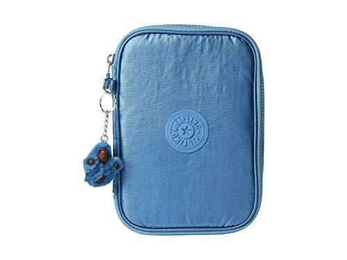Womens Turkish Tile - Kipling 100 Pens Pencil, Essential Everyday Case, Zip Closure, turkish tile metallic