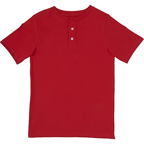 French Toast Toddler Boys' Basic Henley, Red, 3T