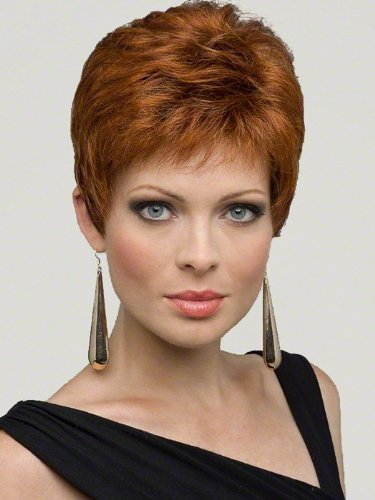 Jeannie by Envy Wigs, Color Chosen: Dark Red by Envy Wigs