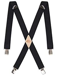 Men's 1-1/2 Solid Straight Clip Suspender