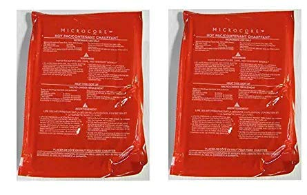 Vesture Hot Pack-Replacement Microcore Pac for Casserole Carriers (Red Pack For Microwave Heating) (2-(Pack))