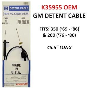 Teckpak K35955OEM Detent Cable (OEM) TH350 69-86 available in Qatar