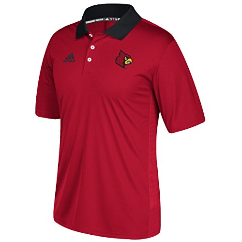 NCAA Louisville Cardinals Adult Men NCAA Sideline Coaches Polo, Large, Power ()