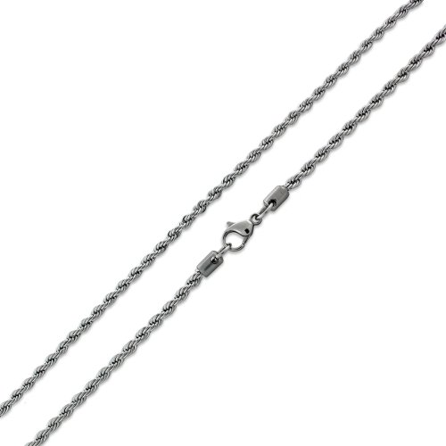 Stainless Steel Rope Chain Necklace 2.4MM (16