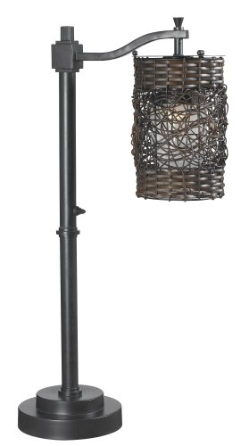 Kenroy Home 32143ORB Brent Outdoor Table Lamp (Wicker Brent)