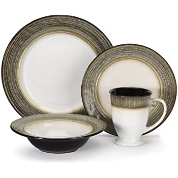 stoneware dinnerware sets for 12 ceramic made in usa this item collection piece blue