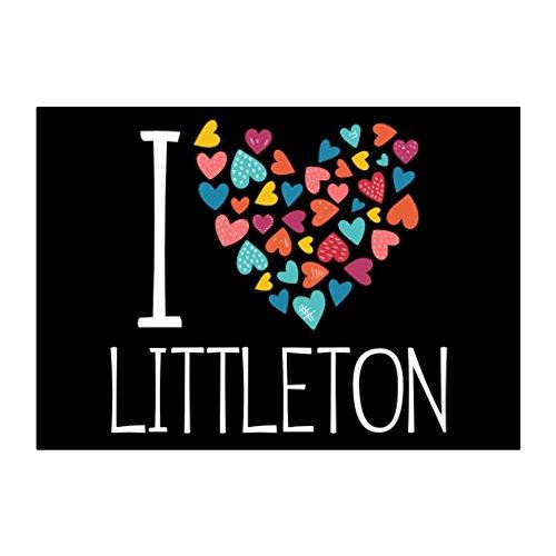 Idakoos - I love Littleton colorful hearts - US Cities - Sticker Pack (Fun City Littleton)