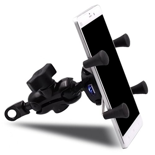 Kimloog Car Stand Holder USB Charger Power Outlet Socket Fit for Samsung Galaxy S7 / S7 EDGE Application for Electric Cars 12V Scooter Electric Car (black)