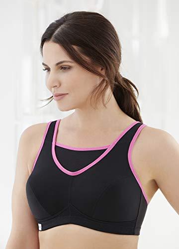 Glamorise Women's Plus Size No-Bounce Full-Support Sport Bra, Black, 34F by Glamorise (Image #3)