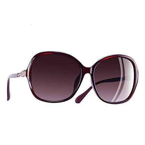 Frame mujer sobredimensionados sol Rhinestone de C5 gafas polarizadas C5 Fuzzy Classic TIANLIANG04 gafas lentes wqYx00