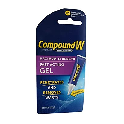 Compound W Wart Remover, Maximum Strength, Fast-Acting Gel, 0.25 oz
