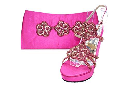 Wear & Walk UK - Sandalias de vestir para mujer F Pink