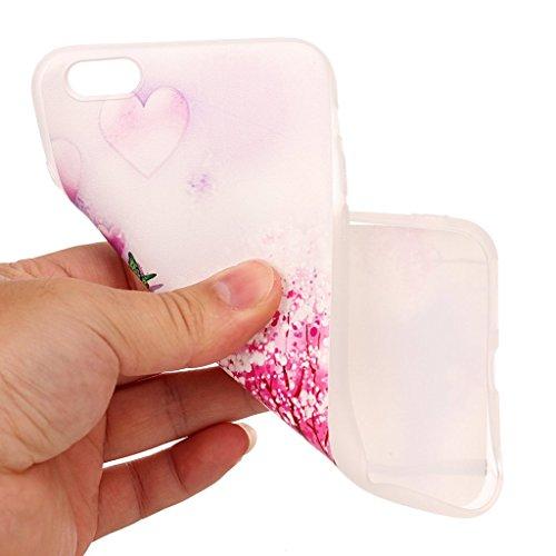 iPhone 6 Plus / 6S Plus Coque,3D Arbre et papillon Premium Gel TPU Souple Silicone Transparent Clair Bumper Protection Housse Arrière Étui Pour Apple iPhone 6 Plus / 6S Plus + Deux cadeau