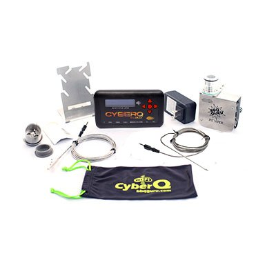 CyberQ Cloud BBQ Temperature Controller, 1 Digital Meat Thermometer and 1 Pit Probe, Weber Smokey Mountain Cooker Adapter and Pit Viper Fan