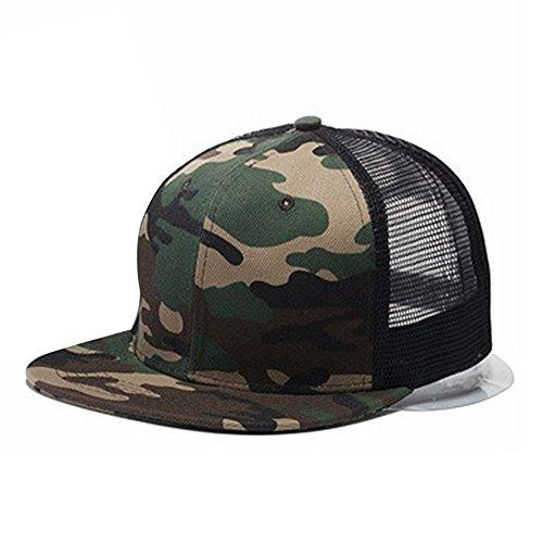 Baiyu Unisex Hip-Hop adjustable Bboy Baseball Cap Trucker Cap Hats Mesh Trucker Cool Fashion Snapback Hats ()