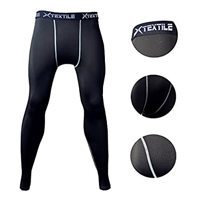 Xtextile Sports Compression Running Leggings Gym Exercise Lycra Elastic Tight Pants Leggings for Men Male