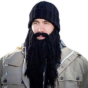 Beard Hat - BeardHead Knit Beanies - Barbarian (Black)