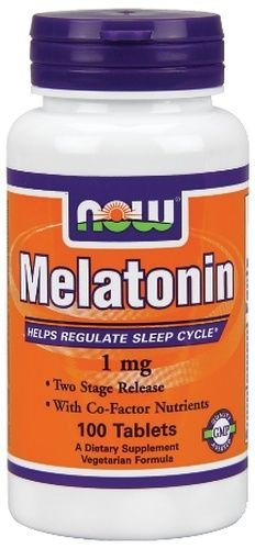 NOW FOODS Melatonin Two Stage Time Release 1 mg 100 Tabs