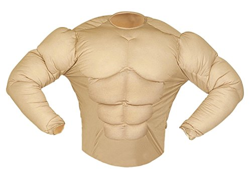 Muscle Costume Uk (Super Muscle Shirt Costume Large For Super Hero Fancy Dress)