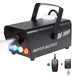 Miric Portable Fog Machine with Wired and wireless remote control, Smoke Machine with Lights LED Colorful Create Atmosphere for Christmas, Halloween, Weddings, Family Gathering, Bar from Miric