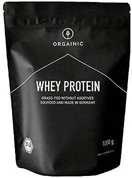 ORGAINIC Proteína de Suero de Leche - Aroma Natural - Con Aminoácidos Esenciales, No Esenciales y BCAA para Ganar y Aumentar Masa Muscular - Procesado ...