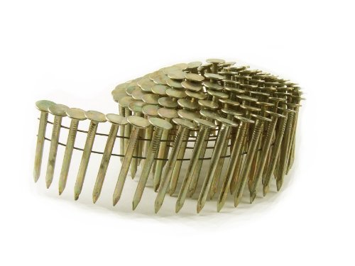 B&C Eagle ACR-114 Round Head 1-1/4-Inch x .120 Smooth Shank Electrogalvanized Coil Roofing Nails (720 per box)