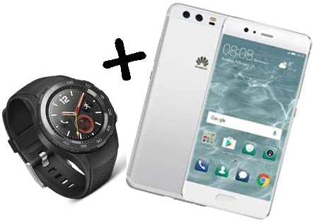 Huawei P10 Plus Smartphone, Marca Tim, 128 GB, Color Plateado + Huawei Watch 2 Leo-dlxx Smartwatch, 4 G/LTE, 4 GB, Color Negro, Italia: Amazon.es: Electrónica