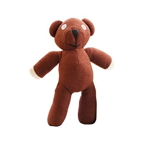 Bear Plush Mr Bean Teddy (JV Ltd. 1pc 23cm Bear Animal Stuffed Plush Toy Soft Cartoon Brown Figure Doll Child Kids Gift Toys Birthday Gift)