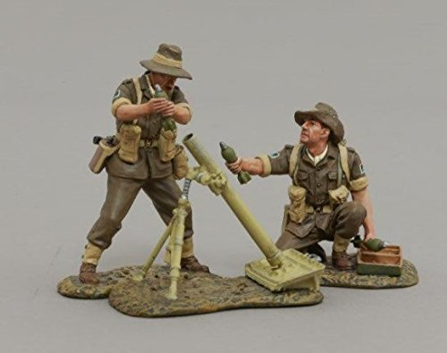 Thomas Gunn Miniatures RS042B Australian Army 8cm Mortar Team - Desert
