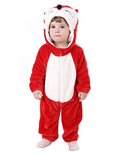 Tonwhar Unisex-baby Red Fox Animal Romper Suit Costume (80(Height:26
