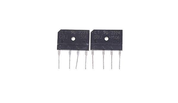 2PCS GBJ1506 Full Wave Flat Bridge Rectifier 15A 600V ^P