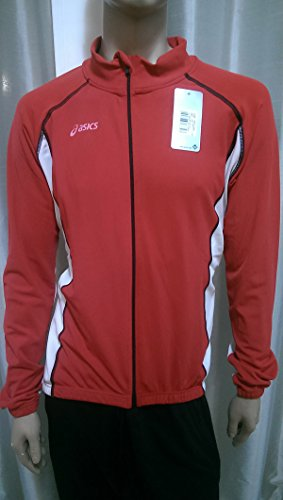Asics Maglia Ciclismo Sweat Full Zip Red/Black