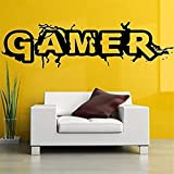 Hbvicts Sticker Bedroom Gamer Letter Removable Living Room Background Wall Sticker Home Decor