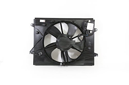Dual Radiator and Condenser Fan Assembly - Cooling Direct For/Fit HY3115151 15-17 Hyundai Sonata 2.4L