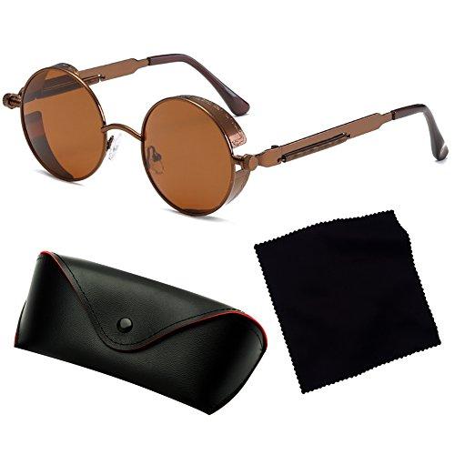UV400 de mujeres punk hibote góticas gafas sol redondas C1 de Steampunk para retro hombres gafas sol vintage OvwZ0xfxq