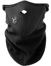 AKORD Neoprenowa maska na twarz na szyję welon sport jazda na motocyklu, czarna, rozmiar pasuje do wszystkich